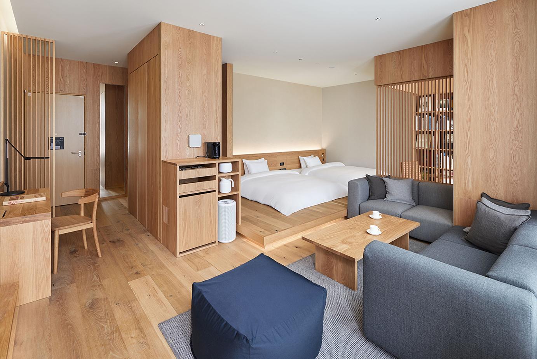 MUJI hotel room